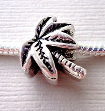 ONE Charm Bead PALM TREE. Fit for European Charm Bracelet and Necklace C153