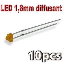 357/10# LED 1,8mm orange diffusant 10pcs