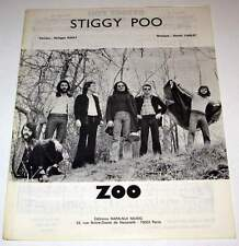 Partition vintage sheet music ZOO : Stiggy Poo * 70's Rare !