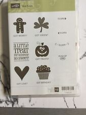 Stampin Up Got Treats Clear Mount Stamp Set