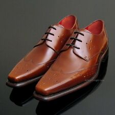 *NEW* Jeffery West Honey Tan Brogues UK 12 Jeffrey Formal Mens Brown Shoes