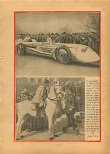 Voiture Course Balle d'Argent Louis Kostalen Kaye Don/ Hungary 1930 ILLUSTRATION