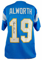 Chargers Lance Alworth Authentic Signed Powder Blue Jersey Autographed BAS