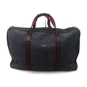 Gucci Travel Bag  Navy Blue Canvas 2305453