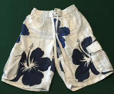 Aeropostale Mens White With Blue Flowers Swimming Trunks Size Small