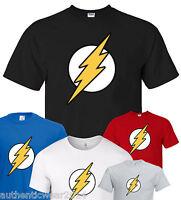 Unisex Flash Super Hero Bazinga Tee Big Bang Theory Sheldon Top T Shirt 5*