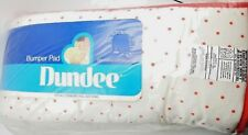 Red Polka Dots Baby Crib Bumper Pad Boy Girl Dundee New Vintage