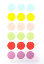 15mm Pastel Coloured Round Dot Circular Sticky Labels - RCPD7915