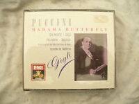 DOUBLE CD SET PUCCINI MADAMA BUTTERFLY GIGLI n/m