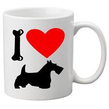 I Love Scottish Terrier, Scottie Dogs on a Quality Mug. Great Novelty 11oz Mug.