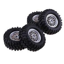 4x 1/10 RC Crawler pièces pneus en caoutchouc pneus 12mm roue Hex Rim pour