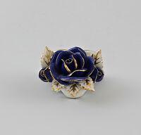 9997414 Ens Porzellan Tischkarten-Halter Rose kobalt gold 2,5x4cm