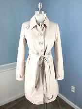 New Elevenses Anthropologie S 4 Blush Pink Trench Coat Jacket Belt