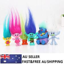 Trolls Poppy Branch Action Figure Dolls Kids Gifts Xmas Toys Cake Topper 6 PCS