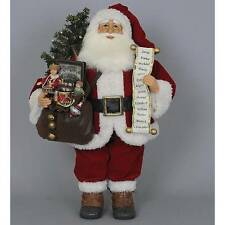 "Karen Didion's Holiday Collectible 21"" Tall Lighted Vintage Gift Bag Santa"