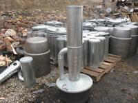 New Smudge pot, return pipe kerosene, diesel, camp heater, orchard heater