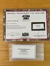 Marvel Netflix Jessica Jones Alias Investigations Business Card Film TV Prop COA
