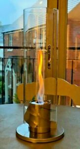 Bio Ethanol Fireplace Spinning flame Patio Heater Fire Pit Indoor Outdoor Garden