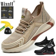 Men Safety Shoes Work Boots Steel Toe Mesh Sport Protective Footwear Trainers AU