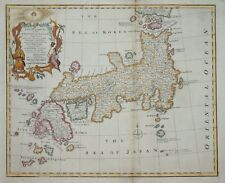 A NEW AND ACCURATE MAP OF JAPAN BY EMANUEL BOWEN, 1744.