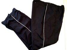 Nike Women's Track Pants M 8-10 Black Athletic Running Train Wind Rain Resistant