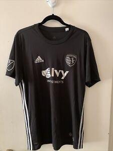 Sporting KC Kansas City Adidas MLS Soccer Black Secondary Jersey