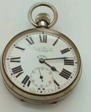 Hardy Brothers Ltd Eight Day Pocket Watch w/ SILVER frame case