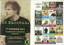 FLYER PLV - ED SHEERAN EN CONCERT LIVE 2015 ZENITH AUVERGNE CLERMONT FERRAND