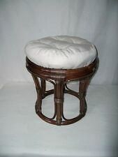 Rattan Stool NEW IN COLOR BROWN WITH PADS (papasanhocker)
