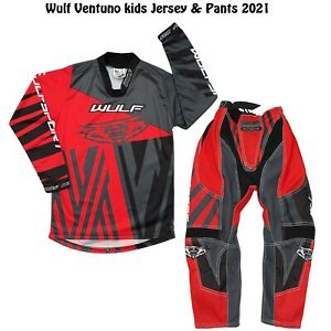 WULF 2021 KIDS VENTUNO MOTOCROSS KART QUAD JERSEY PANTS PROTECTIVE CLOTHING RED