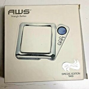 AWS BLADE Chrome Special Edition 1KG 1000g x 0.1g Jewelry Digital Pocket Scale