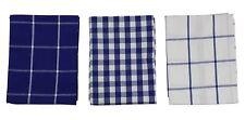 3x cuadros vichy azul blanco 100% Algodón Cocina paños cocina