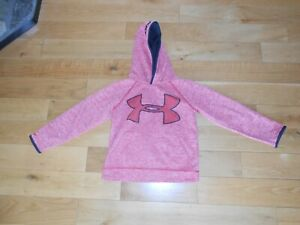 """UNDER ARMOUR MULTI-COLORED LONG SLEEVE """"LOOSE FIT"""" HOODIE SIZE YOUTH SMALL"""