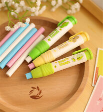 Cute Students Pen Shape Click Eraser Style Rubber Artists Colorful Kid Gift Toy