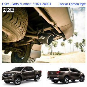 Performance Stainless Exhaust Pipe Carbon Tip For Mazda Bt-50 Pro 2012 - 2017