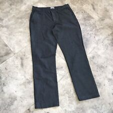 River Island Mens slim fit 100% cotton chinos Trousers Dark Grey W34 L32