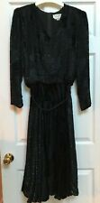 The Silk Farm Black 100% Silk  Vintage dress Size Sz 12