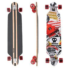"Longboard Skateboard 41"" drop through ABEC 11 completa SAT ORIGINALE maronad ®"