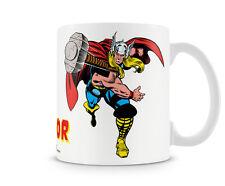 The Mighty Thor with Hammer Kaffee Becher Coffee Mug Tasse Marvel Classic Comics