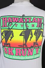 Vintage 1989 Honolulu Hawaii Hawaiian 8k Run T-shirt USA Mens Medium