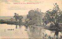 Artino C-1910 Whitneys Point New York Boating River Rathburn postcard 5943