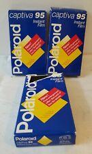 3-Pack Vintage Polaroid Captiva 95 Instant Film (2 Sealed) - EXPIRED 1995