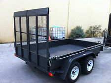 TANDEM PLANT TRAILER 3T BOX WITH RAMPS HEAVY DUTY 10X5 ALSO AVAILBL 10X6 8X5 9X6