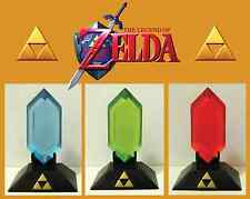 The Legend of Zelda : Blue Rupee with Display Stand