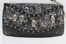 Purse With Skulls - Pewter Color -Very Detailed with Studs-Free Shipping- Goth