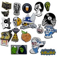 UK Metal Enamel Pins Meme Fashion Lapel Cartoon Brooch Collectable Pin