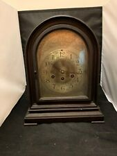 Antique Herschede Mahogany Mantle Bracket Clock w Westminster Chimes