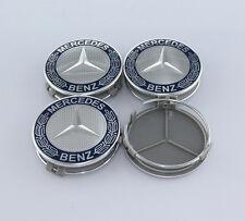 4Pcs 75mm Car Sticker Wheel Center Hub Cap Cover Aluminium for Mercedes Benz