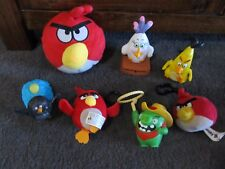 ANGRY BIRDS...angry birds...great lot of 8 toys, big and small!! soft, keyring +