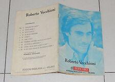 Spartiti ROBERTO VECCHIONI Omonimo Same - 1977 Songbook Vocal spartito